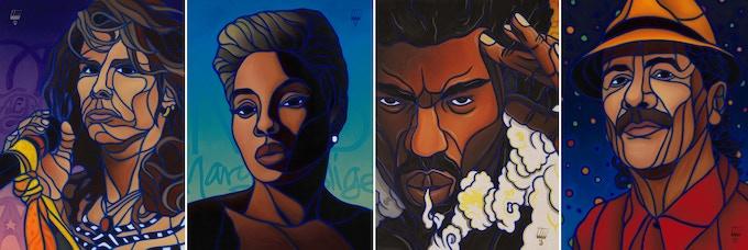East Vs West Biggie Vs Tupac Original Paintings By