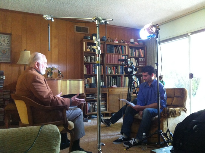Director Tim Delmastro Interviewing G Edward Griffin