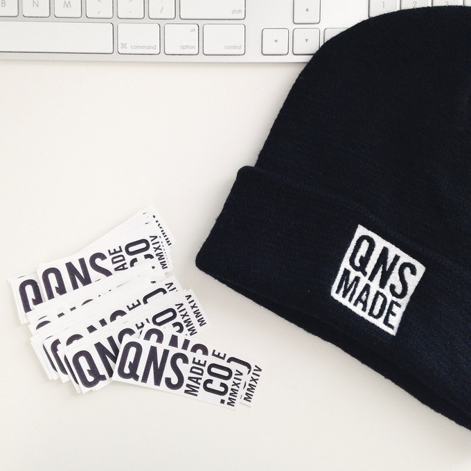 Beanie and stickers