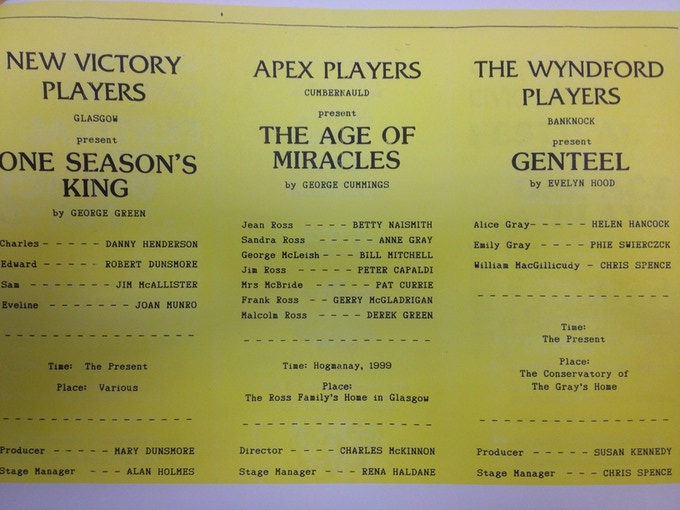 The Age of Miracles original flyer