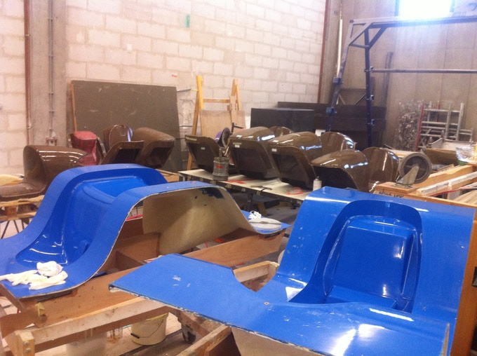 The molds and frames during pre-production