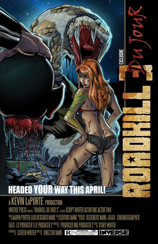 "Roadkill du Jour 3 - Kickstarter-Exclusive ""MOTION PICTURE"" Poster Cover!"