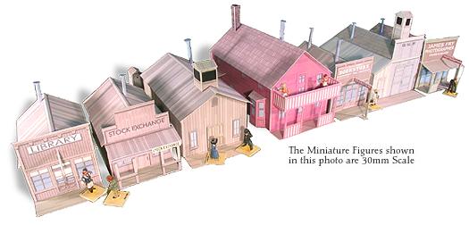 Whitewash City Model Set #9