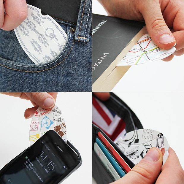 In your pocket, as a bookmark, in your phone case or wallet