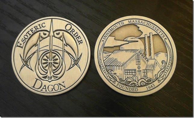 Esoteric Order of Dagon - Innsmouth Coin (proof coin, error corrected on final coin)