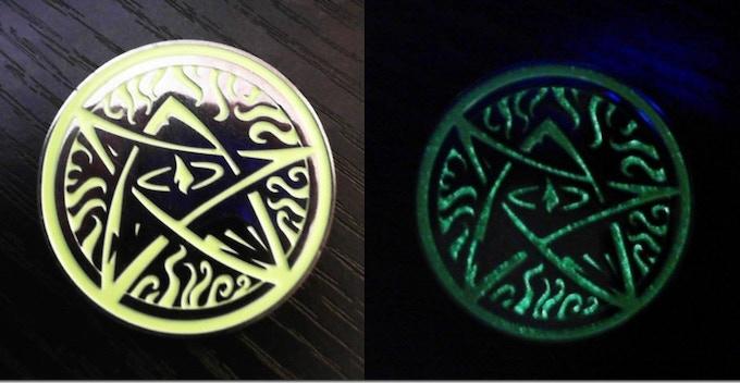 The Elder Sign Coin - Glows in the Dark!!!