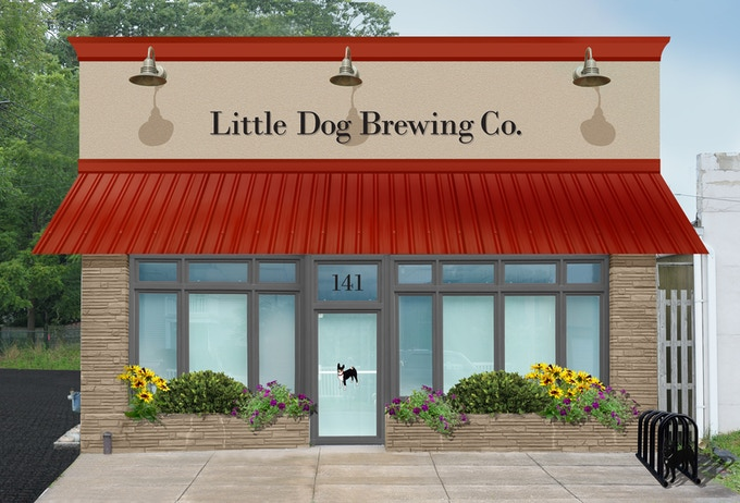 """Artist Rendering - A Proposed """"After"""" - Little Dog Brewing Co., Neptune City, NJ"""