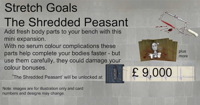 The First Stretch Goal will be The Shredded Peasant