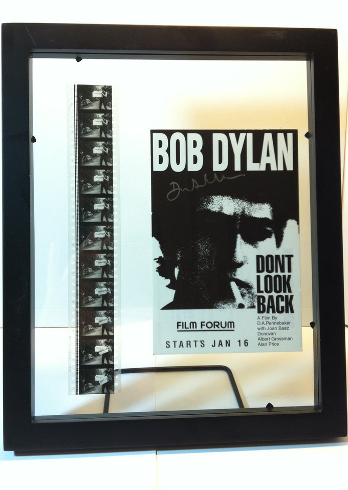 DONT LOOK BACK Framed 35mm Film Strip and Card Signed by Penny