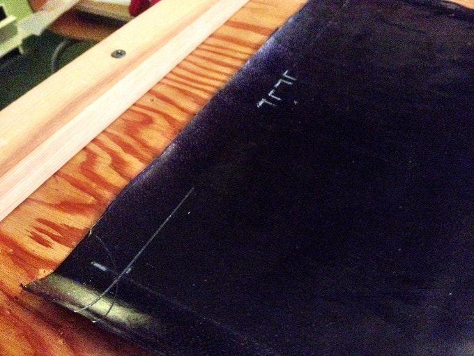 First step in making a cover is tailoring the cotton broadsheet. It's actually pretty similar to tailoring a suit.