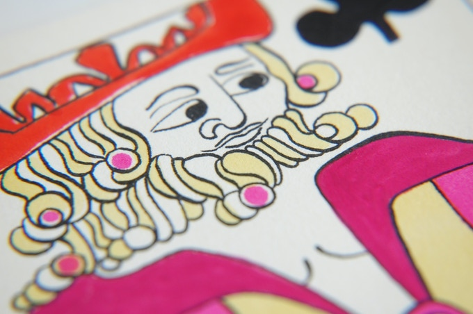 Hotcakes King of Clubs Artwork Detail.