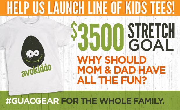 Helps us reach our STRETCH GOAL of $3500 and we can produce KID TEES, too!