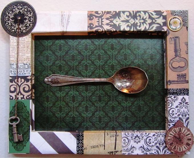 """'Tarnished"""" Shadow Box, $65"""