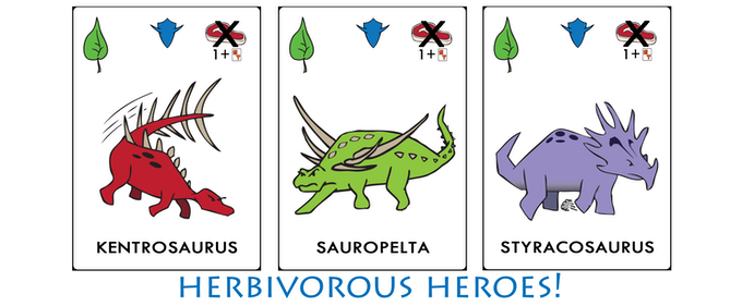 3 Cards from Herbivorous Heroes Expansion!
