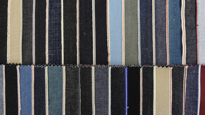 We have access over 500 Selvedge fabrics that have a range selvedge ID colors and weights.