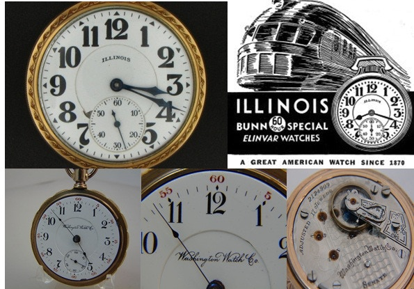 Illinois Watch Co & Washington Watch Co - Vintage