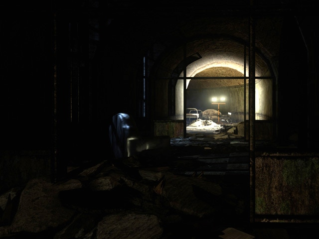"""Remnants of chaos of an """"accident"""" in Asylum (UE4)"""
