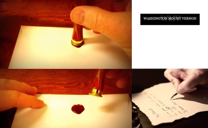 """Handwritten Letter and Wax """"W"""" Seal"""