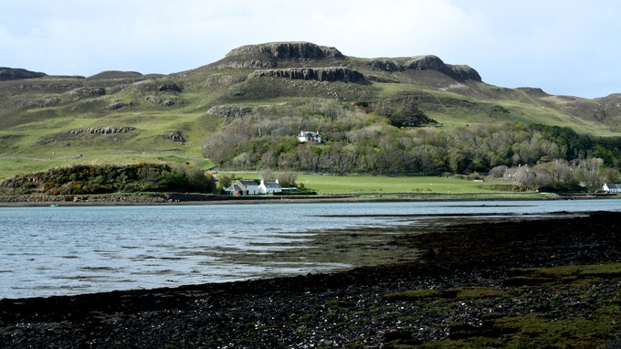 Tighard nestled on the hill above the bay