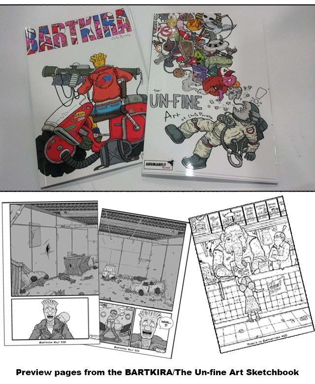 The Unfine Art of Chris Pyrate (Perfect Bound Sketchbook) includes Chris Pyrate's section of BARTKIRA