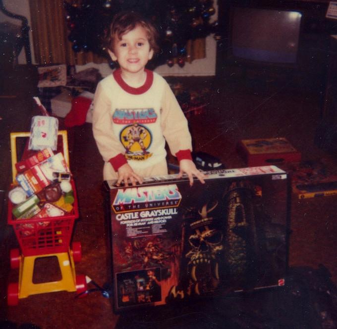 Daniel getting the original Castle Grayskull for Christmas