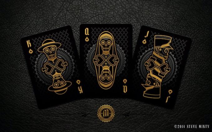 Muertos Night Deck Spade Face Cards - (Left to Right) El Padre, La Hermana, El Soldado