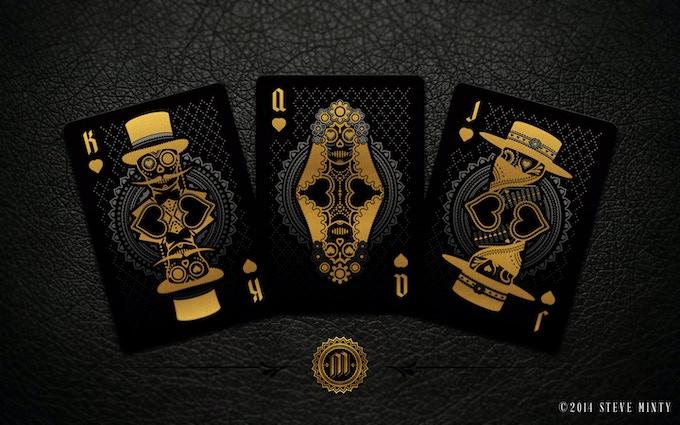 Muertos Night Deck Hearts Face Cards - (Left to Right) El Catrin, La Viuda, El Bandito