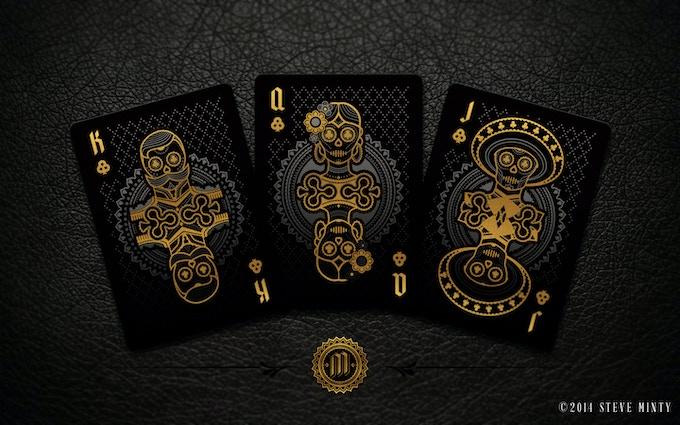 Muertos Night Deck Clubs Face Cards - (Left to Right) El Caudillo, La Bailarina, El Campesino