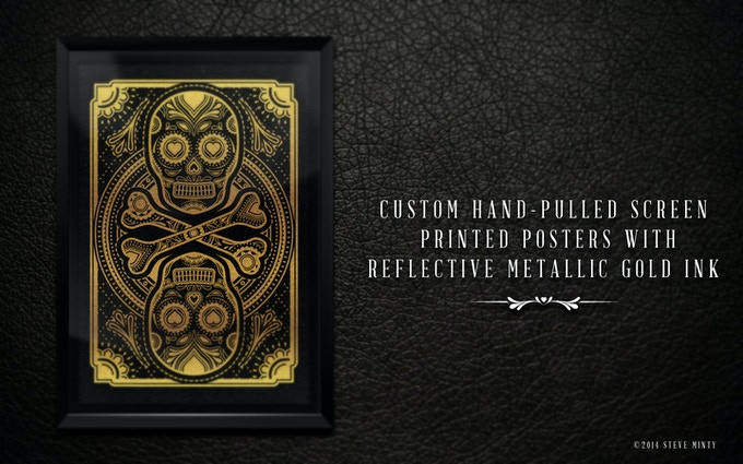 """11"""" x 17"""" Muertos Hand-Pilled Screen Printed Poster. Numbered and printed on high quality paper stock."""