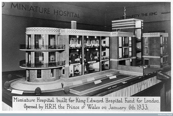 Model of hospital, 1933. The Wellcome Library