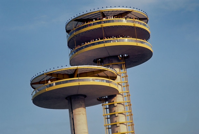 New York State Pavilion Observation Towers, 1964 (Photo courtesy of Bill Cotter)