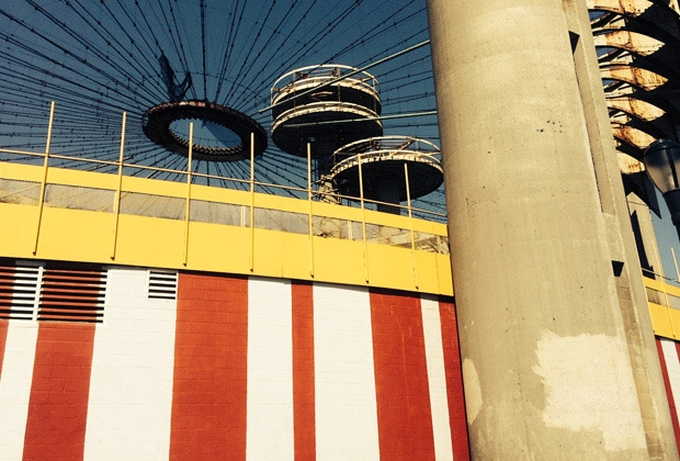 The New York State Pavilion today (Photo courtesy Lori Walters)