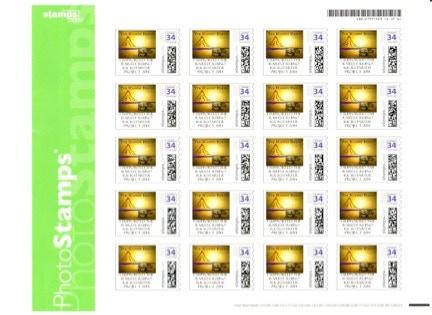 US Rarest Rhino Stamp Sheet