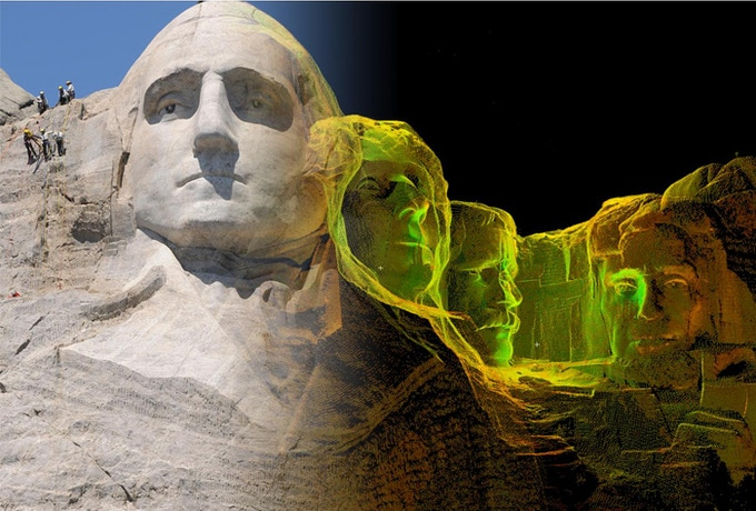 Example of a transition image (Mount Rushmore)