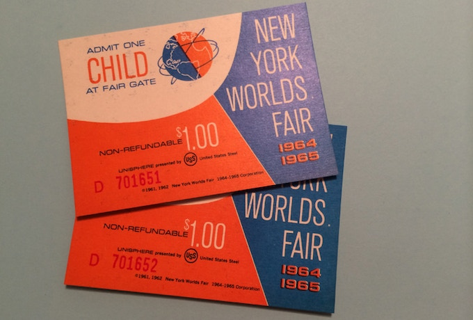 Mint condition Child's admission ticket to 1964-65 New York World's Fair