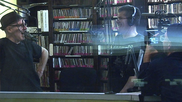 The Slickee Boys at WRIR with Dir. James Schneider, on one of many radio shows featured in film, 2011