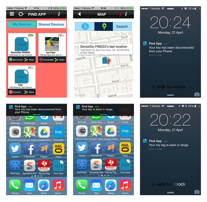 iOS App screenshots