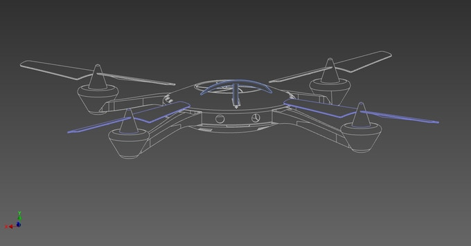 "Pre-vis artwork of ""Optic"", the quirky quadcopter voiced by JP Manoux  Concept by Douglas Crawford."