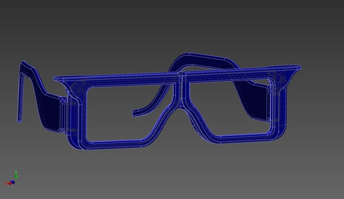 Invisivision Eyewear CAD Illustration (View A)