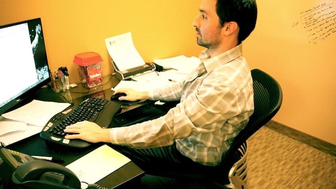Perfect posture at work!