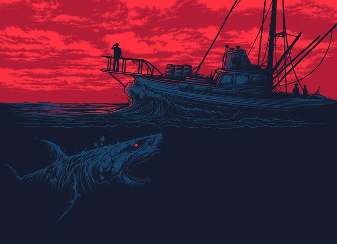 Jaws by Dan Mumford.