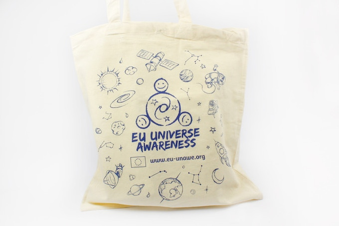 The UNAWE printed canvas bag