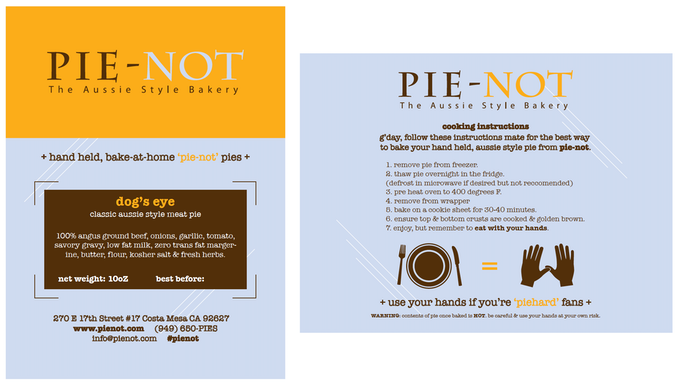 Pie-Not BAKE-AT-HOME Packaging Design.