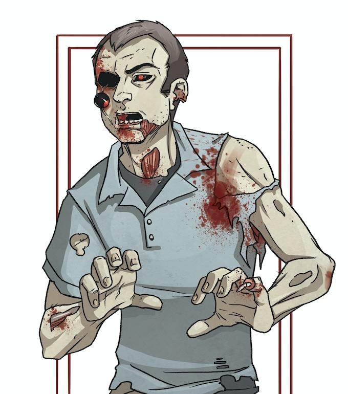 Zombie Zimmerman by gregarious Grace Allison.