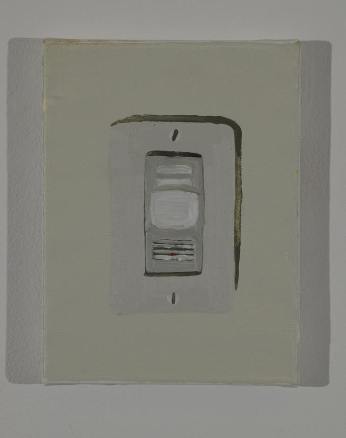 """Reward #4: Light Sensor, acrylic and oil on canvas, 8""""x 6"""""""