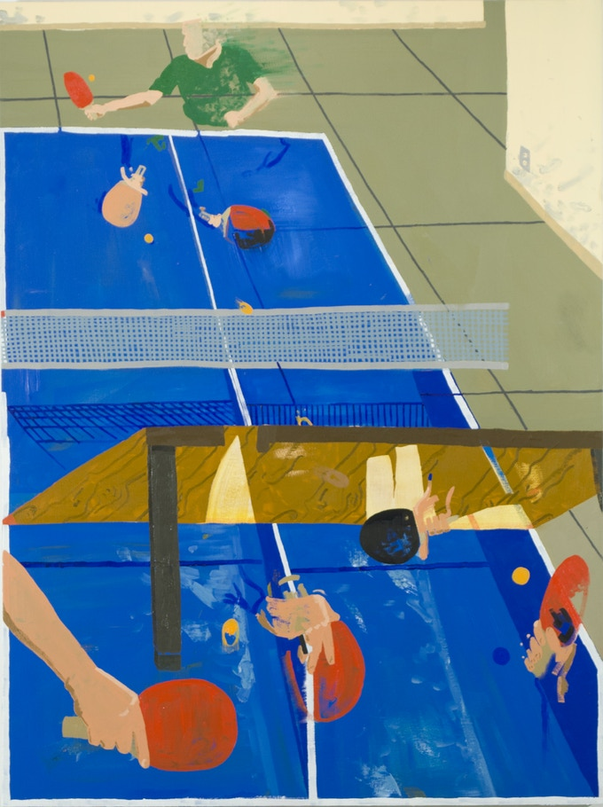 "Reward #(3 of 3): Inkjet Print (12""x 9"") of Table Tennis, oil on canvas, 48""x 36"""
