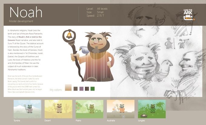 Character development screen