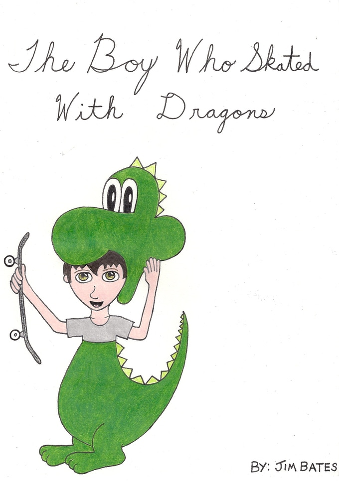 """""""The Boy Who Skated With Dragons"""" inside cover page"""