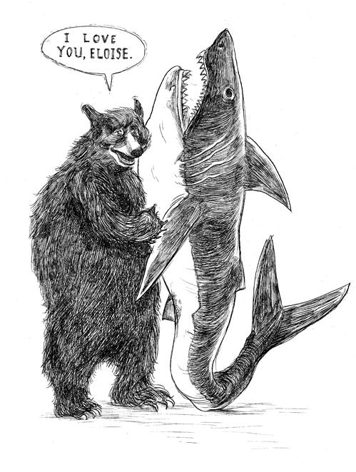 Bear and Shark Print