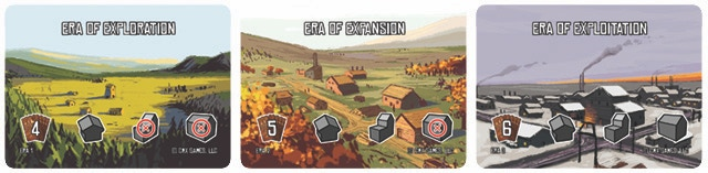Each era introduces new buildings, more powerful capital cards, and more profitable production cards to the game.